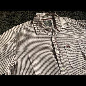 Burgundy Striped Shirt - Medium